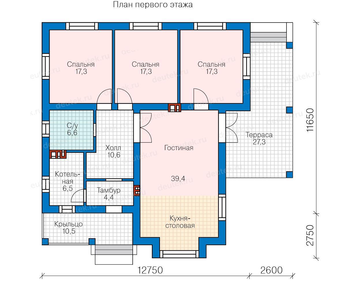 Схема домов с 3 спальнями