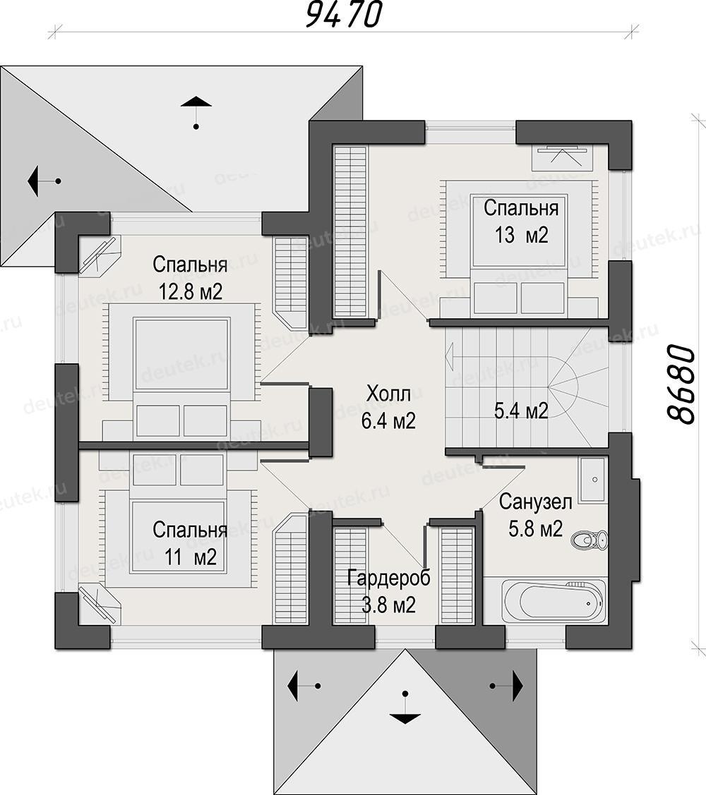 несколько проект коттеджа с 4 спальнями на втором этаже сразу начать выигрывать